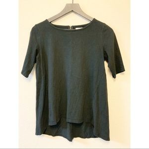 Madewell Black Zip Swing Tee